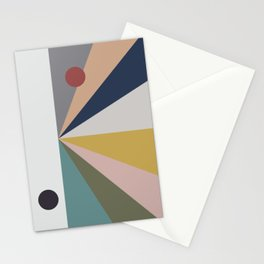 black sun, red sun Stationery Cards