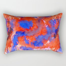 Red Blue Background Rectangular Pillow