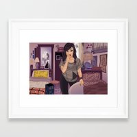 carmilla Framed Art Prints featuring Carmilla by Carla Griffin