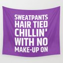 SWEATPANTS HAIR TIED CHILLIN' WITH NO MAKE-UP ON (Purple) by creativeangel