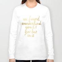 wonderland Long Sleeve T-shirts featuring Wonderland by Tangerine-Tane