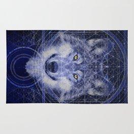 Wolf Geometry Rug
