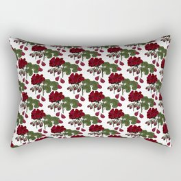 Red Geranium Rectangular Pillow