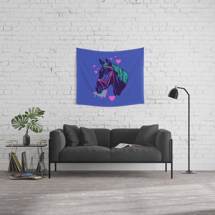 Pizza Pony Wall Tapestry