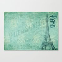 french Canvas Prints featuring French by EnchantedWhispers