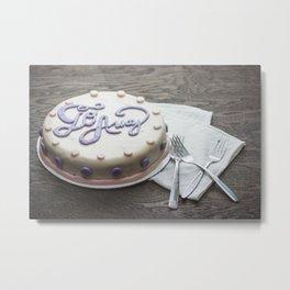"""Go Away"" Cake Metal Print"