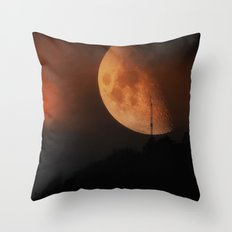 Red Moon II Throw Pillow