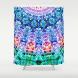 COSMIC KISS Shower Curtain