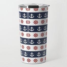 Ship Wheels & Anchors Travel Mug