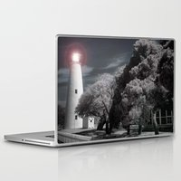 dwight Laptop & iPad Skins featuring The Night Light by Anthony M. Davis
