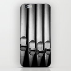 Organ pipes black and white photography iPhone & iPod Skin