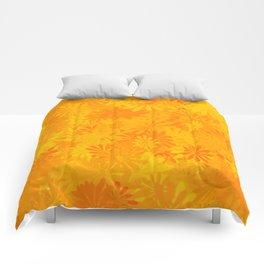 Golden Flower Dayz Comforters