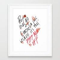 coachella Framed Art Prints featuring Coachella by Jesus Xavier