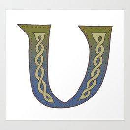 Celtic Knotwork Alphabet - Letter V Art Print