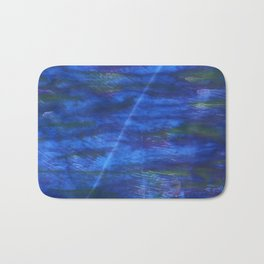 Indigo abstract watercolor background Bath Mat