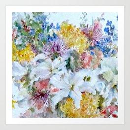 Bountiful floral Art Print