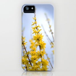 Yellow flowers reaching iPhone Case