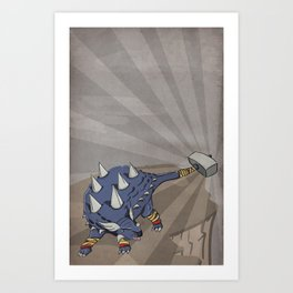 Ankylothorus - Superhero Dinosaurs Series Art Print
