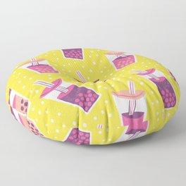 Bubble Tea Boba Pattern Floor Pillow