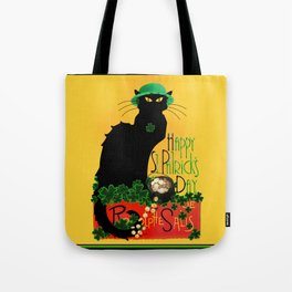 St Patrick's Day - Le Chat Noir Tote Bag
