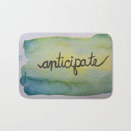 anticipate watercolor print Bath Mat