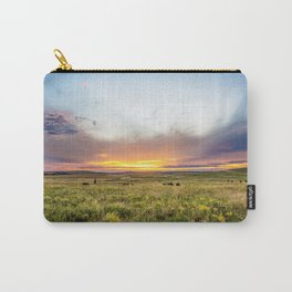 Tallgrass Prairie - Sunset and Bison on the Plains Carry-All Pouch