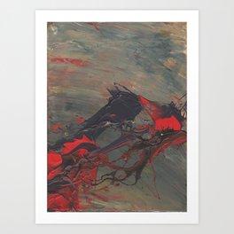 Battling Nerves Art Print