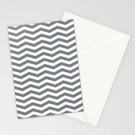 Chevron Navy Stationery Cards