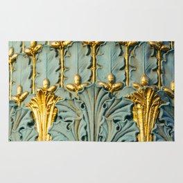 Ornate Parisian Lamp Post Detail, Paris, France. Rug