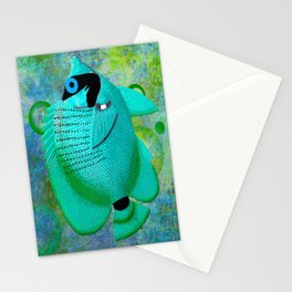 ANGEL FISH BLUE Stationery Cards