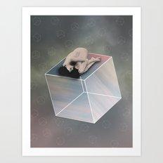 Cube Travel Art Print