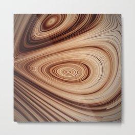 Thinking of Logs Metal Print