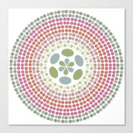 Retro floral circle 1 Canvas Print