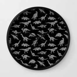 DINOSAURS (BLACK) Wall Clock