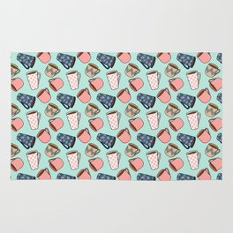Coffee Mug Pattern Rug