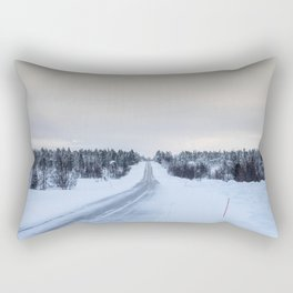 Icy Road in Finland Rectangular Pillow