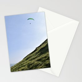 Paraglider in England's Peaks Stationery Cards