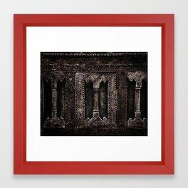 Etching Framed Art Print