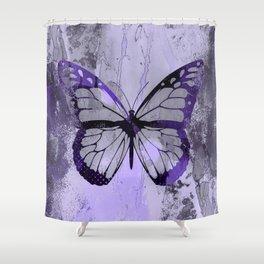 Abstract Butterfly Art Ultraviolett Colors Shower Curtain