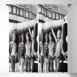 Led#Zeppelin Band and Airplane The Starship Boeing 720 in 1973 Modern Postcard Blackout Curtain