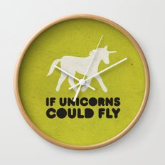 If unicorns could fly. Wall Clock