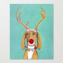 George the Holiday Hound Canvas Print