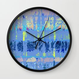 Abstract Forest Trees in Blue and Lilac Wall Clock