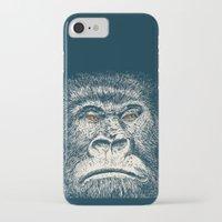 gorilla iPhone & iPod Cases featuring Gorilla by Lara Trimming
