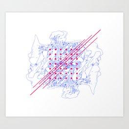 Fungus, Dots and Lines Art Print