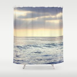 California Sunset over the Pacific Ocean Shower Curtain