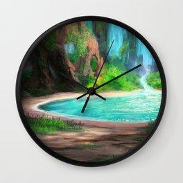 Hidden Lagoon Wall Clock