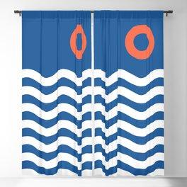 Nautical 03 Seascape Blackout Curtain