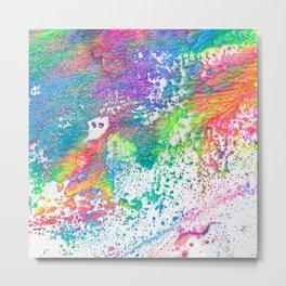 Rainbow Paint Splatter V2 Metal Print