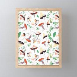 Ferns and Shrooms Framed Mini Art Print